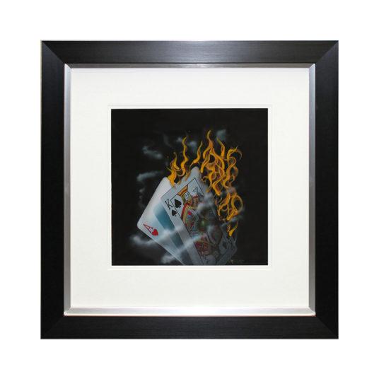 CC113LAb Burning Blackjack Liquid Art